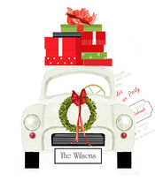 Product Image For Christmas Car Die Cut invitation