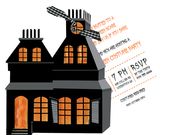 Product Image For Haunted House Die Cut invitation