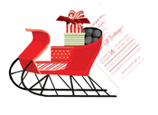 Product Image For Red Sleigh Die Cut invitation