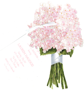 Product Image For Hydrangea Die Cut invitations