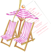 Product Image For Beachy Beachy Die Cut invitations