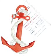 Product Image For Anchors Aweigh Die-cut invitation