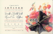 Product Image For Peach & indigo invitation