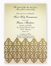 Product Image For Moorish Leaves Wrap with Gold shimmer -Ivory insert