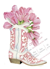 Product Image For Cowgirl Boot with Tulips invitation