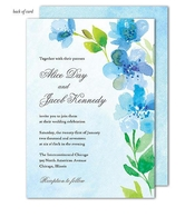 Product Image For Blue Floral Invitation