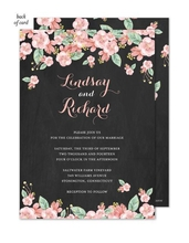 Product Image For Chalkboard Floral Invitation