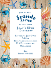 Product Image For Blue Seaside Invitation