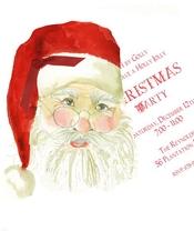 Product Image For Santa Claus Die Cut invitation
