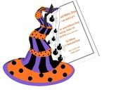 Product Image For Witches Hat Die Cut invitation