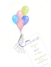 Product Image For Fly Away Die cut invitation