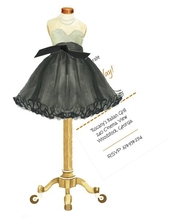 Product Image For Cocktail Dress Die Cut invitation