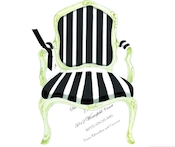 Product Image For Black and white Chair Die-Cut invitation