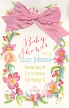 Product Image For Fleurs Invitation, pink Ribbon