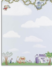 Product Image For Jungle Animals Letterhead