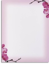 Product Image For Pink Orchids Laser Paper