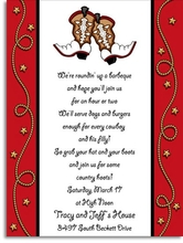 Product Image For Dancin' Boots Digital Invitation