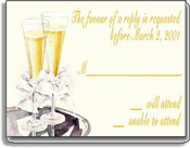 Product Image For Champagne Response Card