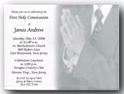 Product Image For Communion Boy W/ Vellum Invitation