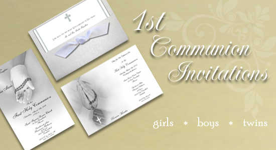 1st Communion Invitations
