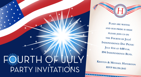 Fireworks Flags Patriotism And Perhaps A Little Extra Booze Celebrate Our Nations Independence With An Oomph By Sending Out Invitations