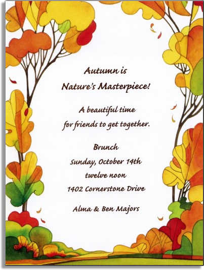 Fall Festival Invitations – Fall Party Invitation Wording