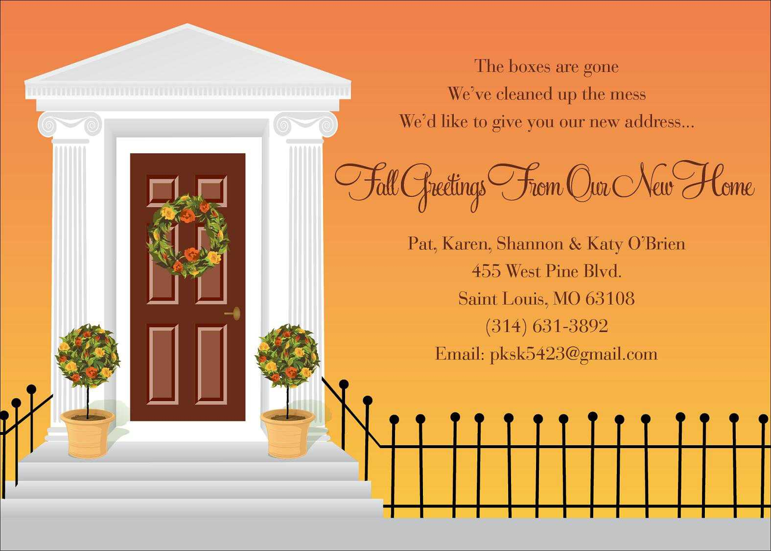 Autumn invitations autumn invitations for special events for House friend door