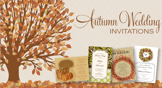 an autumn themed wedding is a gorgeous affair from the season alone the rich colors of the season perfectly complement with elegance and grace - Fall Themed Wedding Invitations