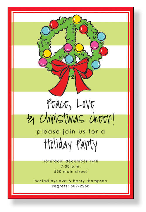 Christmas Open House Invitations Christmas Open House – Christmas Party Invites Ideas