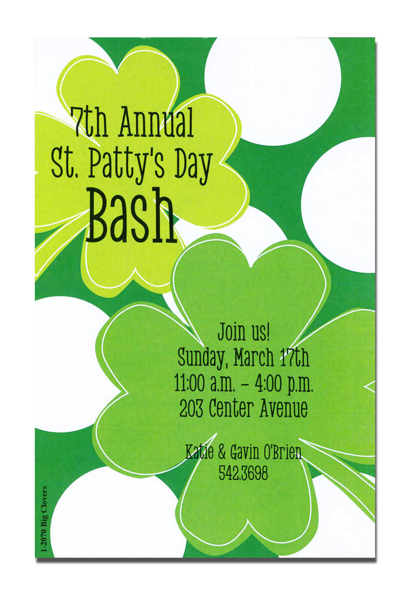 st patrick u0027s invitations