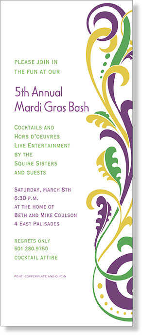 Mardi Gras Invitations Mardi Grass Party Invites