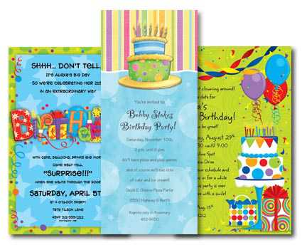 Our birthday invitations have colorful and explosive themes to help ...