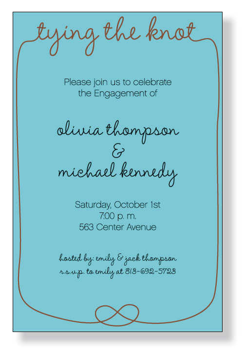Holiday Wedding Invitations – How to Word Engagement Party Invitations