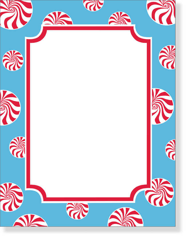 Candy Christmas Paper Borders