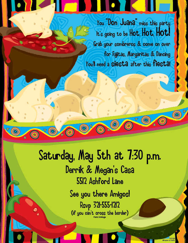 cinco de mayo invitations