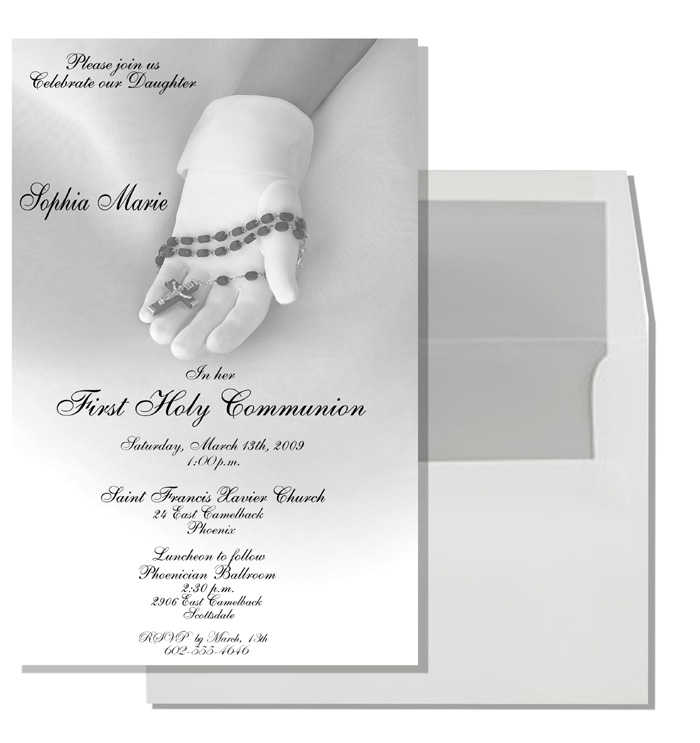 ... Ear Piercing Ceremony 2018 FotoShop. First Holy Communion Invitations Communion Invitation Cards
