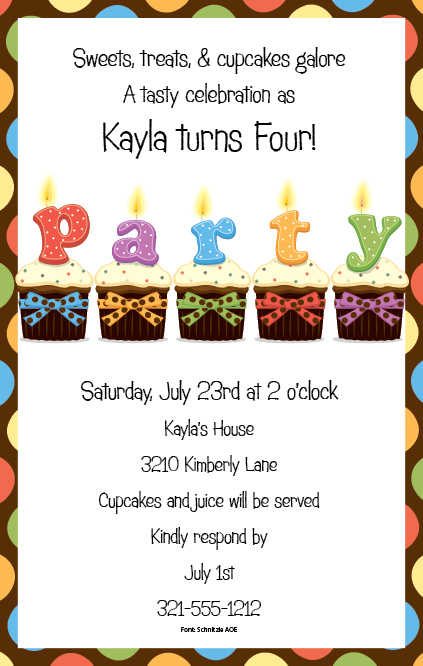 Birthday Invitation Wording Ideas - Baby birthday invitation card wording