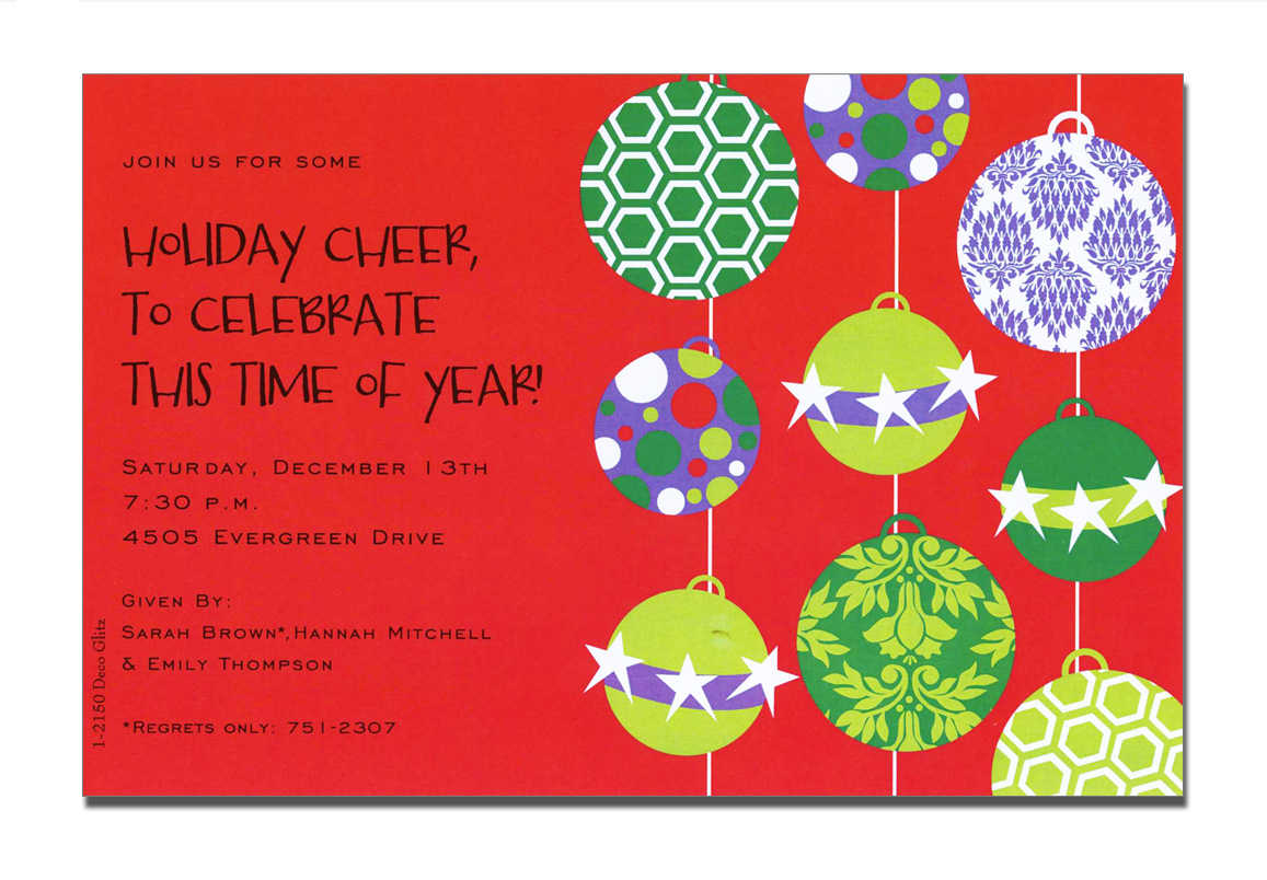 Christmas Open House Invitations , Christmas Open House