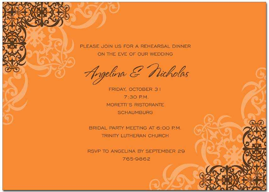 Autumn invitations - Autumn invitations for special events