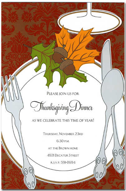 Autumn invitations autumn invitations for special events for Thanksgiving invitation templates free word