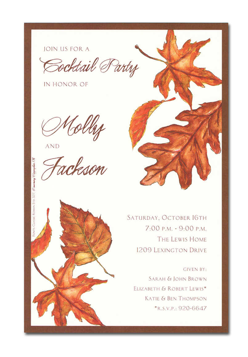 Autumn Themed Baby Shower Invitations is beautiful invitations example