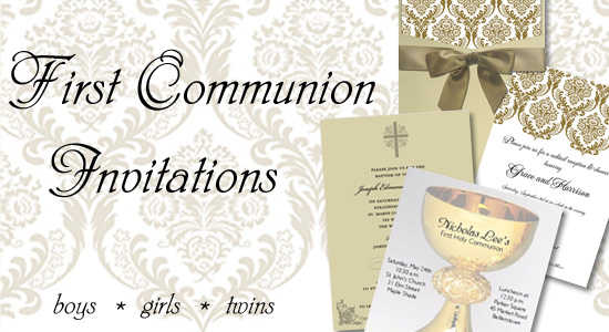 First Holy Communion Invitations