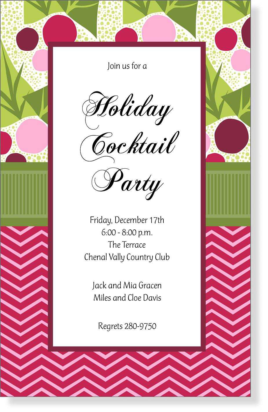 Christmas Open House Invitations - Christmas Open House ...
