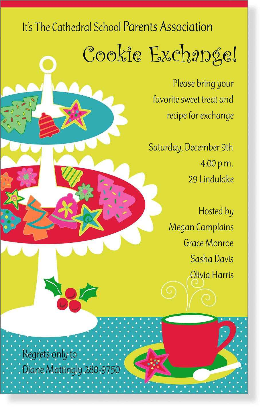 Cookie Swap Invitations is great invitation design