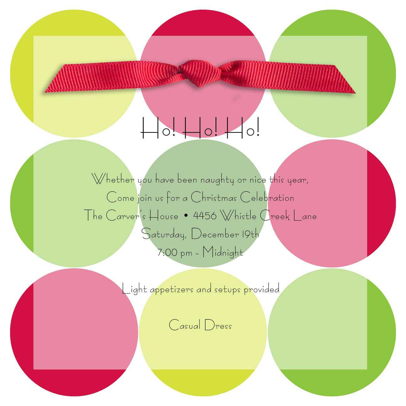Christmas Invitations - Christmas Invitations for special events