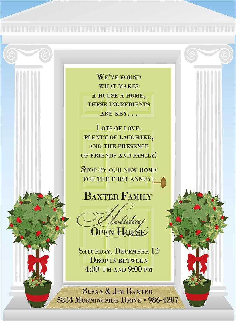 Christmas Open House Invitations For Special Events