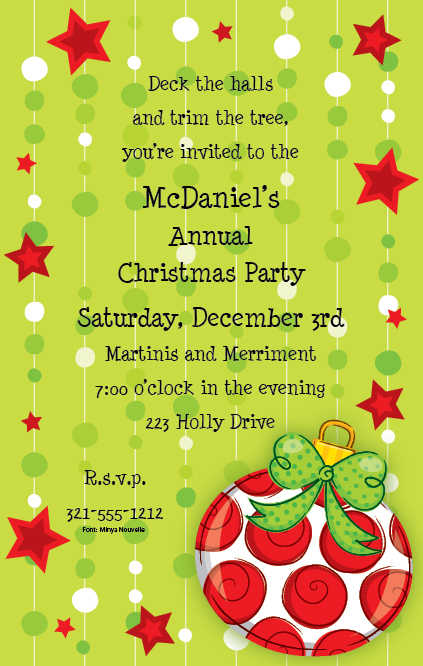 Funny Christmas Party Invitation Wording Christmas Cocktail Party – Funny Party Invite Wording