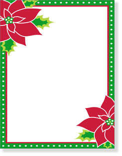 These Christmas Themed Papers Are Among The Most Por Writing Paper Designs Available