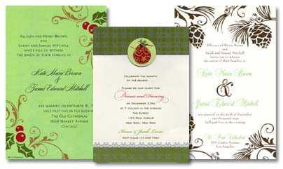 Holiday Wedding Invitations