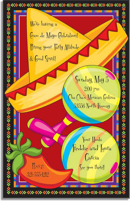 cinco de mayo invitations. Cinco de Mayo and fiesta